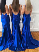Sleeveless V-Neck Trumpet/Mermaid Court Wedding Party Dress