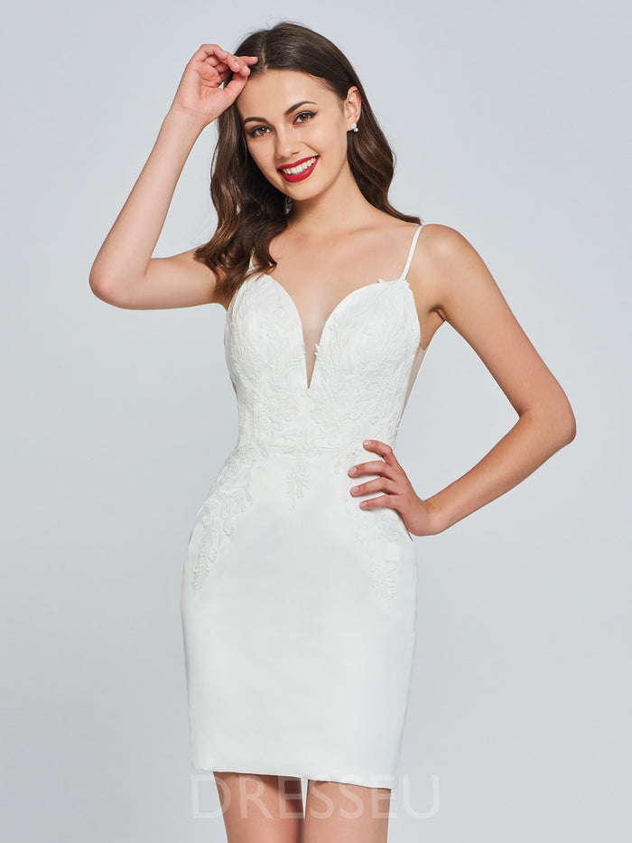 Trumpet/Mermaid Sleeveless Knee-Length Spaghetti Straps Cocktail Dress
