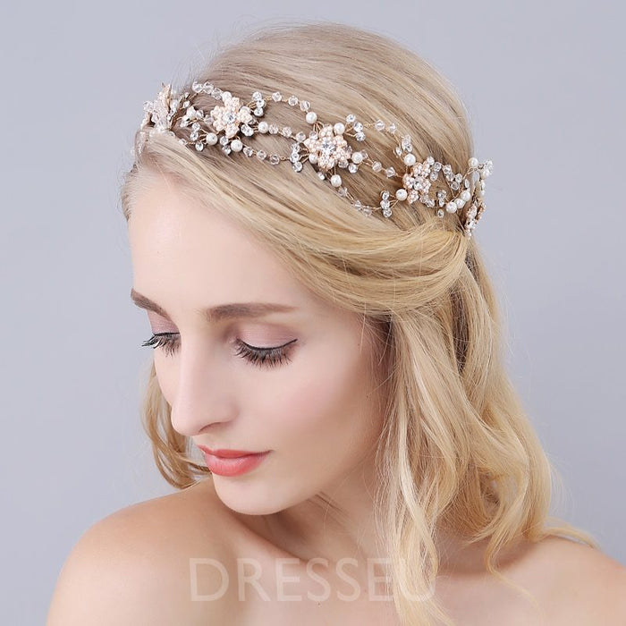 Plant Diamante Headband Engagement Hair Accessories