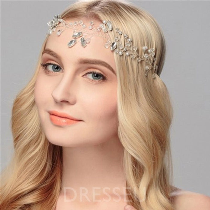 Plant Diamante Headband Bridal Hair Accessories