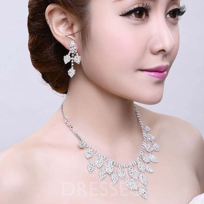 Korean Earrings Wedding Jewelry Sets