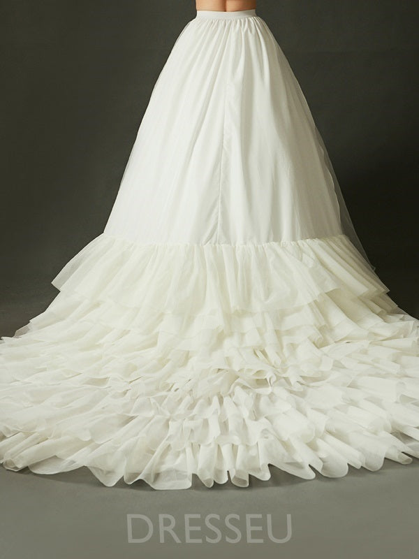 Ivory Court Train Tiered Wedding Petticoat