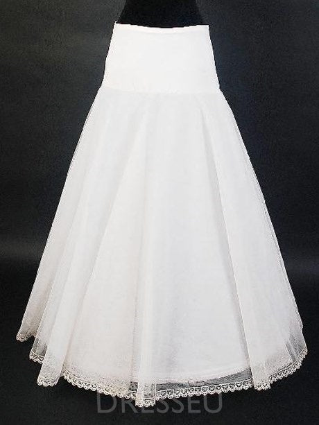 A Line Ivory Tulle Wedding Petticoats For Women