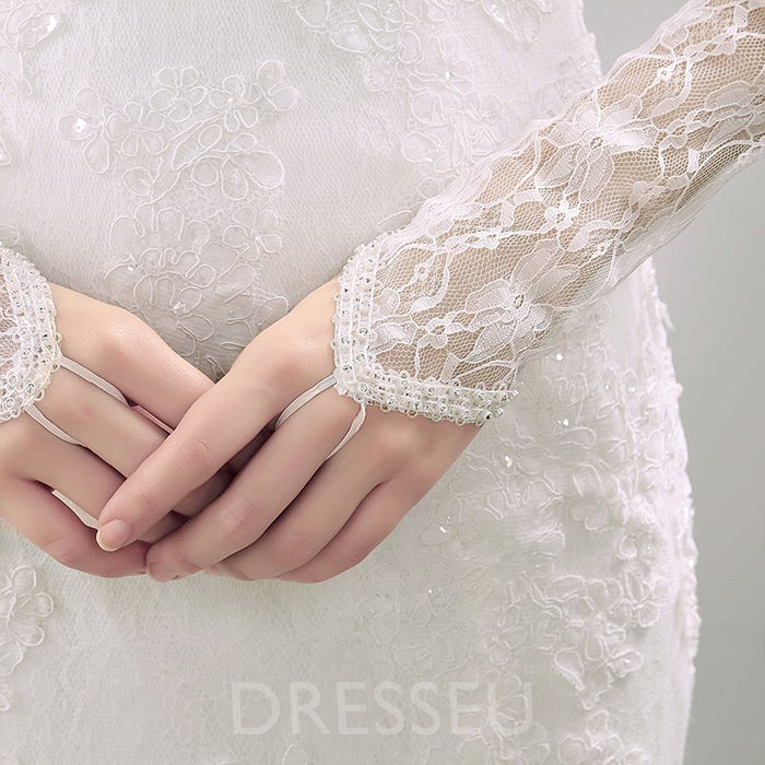 Opera Lace Wedding Gloves