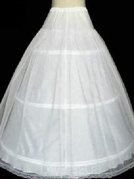 Double Layers Gauze with Three Steel Support Ball Gown Wedding Petticoats