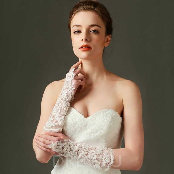 Lace Wedding Gloves For Wedding Party