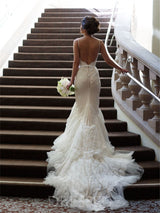 Trumpet/Mermaid Sweetheart Tulle Floor-Length Wedding Dress