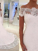 Trumpet/Mermaid Court Cap Sleeves Floor-Length Beach Wedding Dress