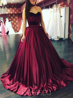 Sleeveless Ball Gown Sweetheart Long Prom Dress