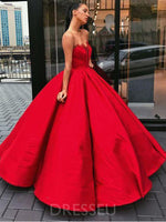 Appliques Ball Gown Floor-Length Sweetheart Prom Dress