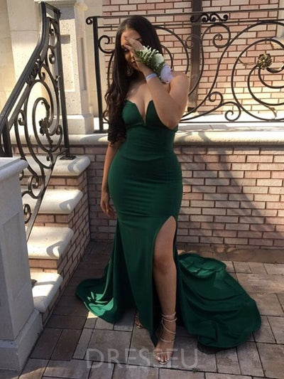 Sweetheart Split-Front Mermaid Long Prom Dress