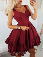Sleeveless Ruffles Straps A-Line Cocktail Dress