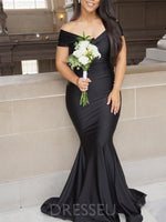 Sweep/Brush Trumpet/Mermaid V-Neck Sleeveless Prom Dress