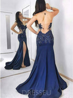 Floor-Length Sweetheart Sweep/Brush Sleeveless Evening Dress