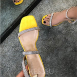 Ankle Strap Stiletto Heel Open Toe Buckle Buckle Sweet Sandals