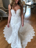Sleeveless Spaghetti Straps Chapel Lace Hall Wedding Dress
