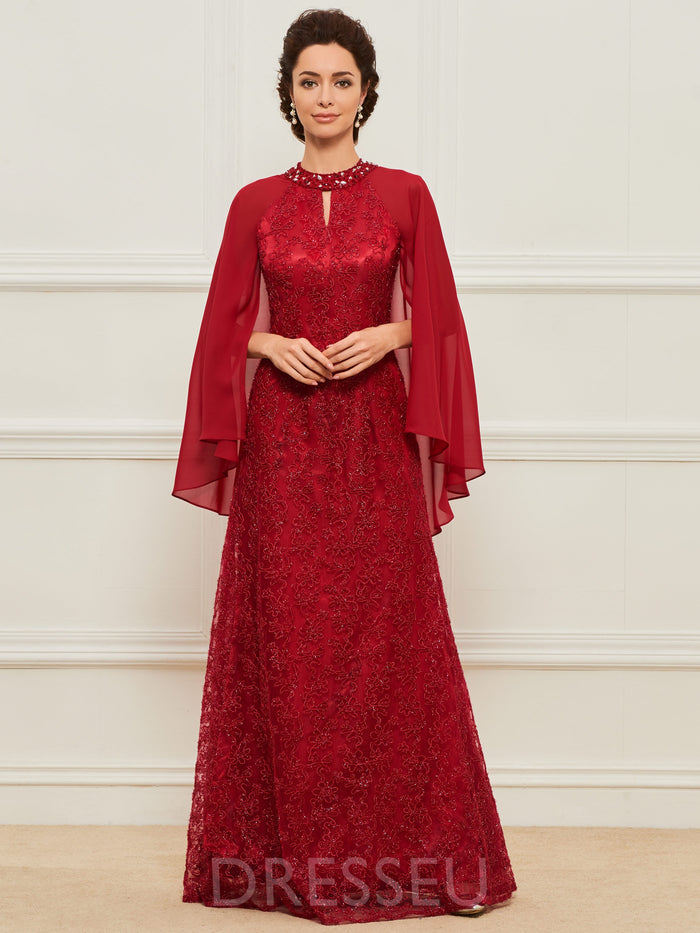 Lace Mother of the Bride Dress with Sleeve