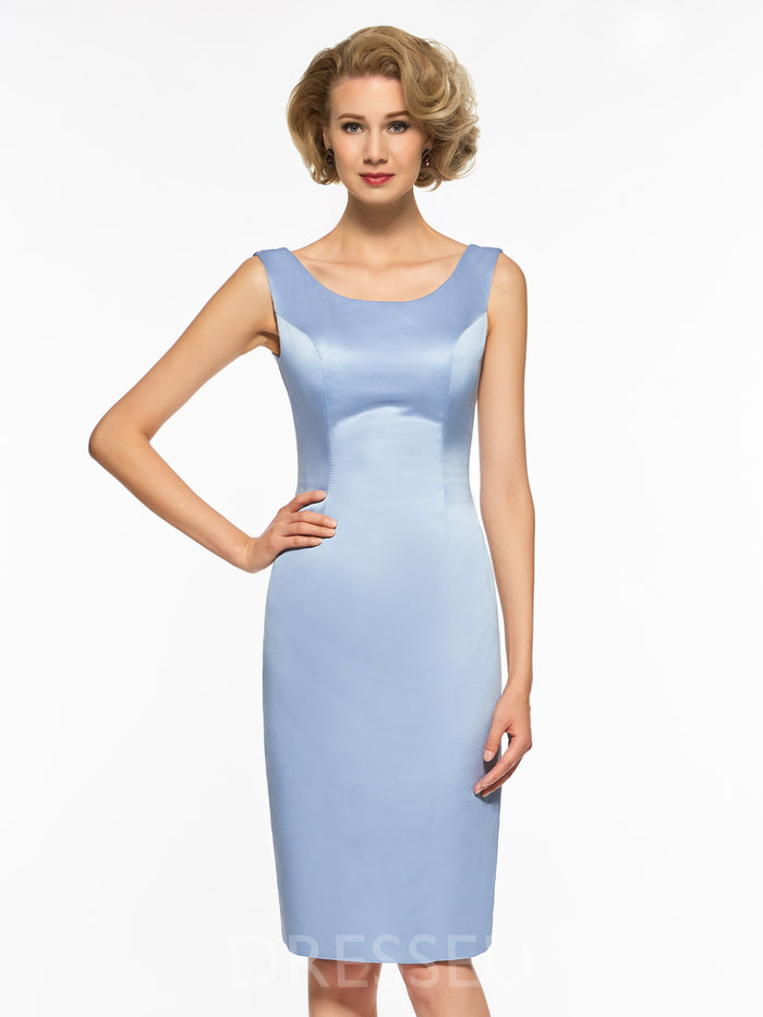 e3073df5605 Knee Length Sheath Column Mother of the Bride Dress with Lace Jacket ...