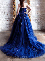 Sweetheart Floor-Length Sleeveless A-Line Evening Dress