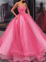 Beat Sweetheart Sleeveless Ball Gown Long Prom Dress