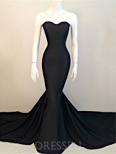 Sleeveless Court Floor-Length Trumpet/Mermaid Prom Dress