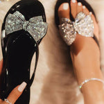 Slip-On Flat With See-Through Thong PVC Slippers
