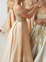 Beading A-Line Floor-Length Sleeveless Bridesmaid Dress