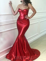 Sexy Red Sweetheart Mermaid 2019 Prom Dresses