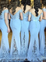 Sweep/Brush Floor-Length Sleeveless Trumpet/Mermaid Bridesmaid Dress