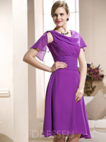 Scoop A-Line Tea-Length Sleeveless Bridesmaid Dress