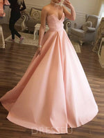 Floor-Length Sweep/Brush Sweetheart Ball Gown Prom Dress