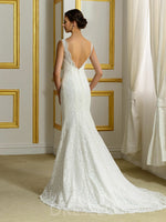 Bateau Court Sleeveless Trumpet/Mermaid Wedding Dress