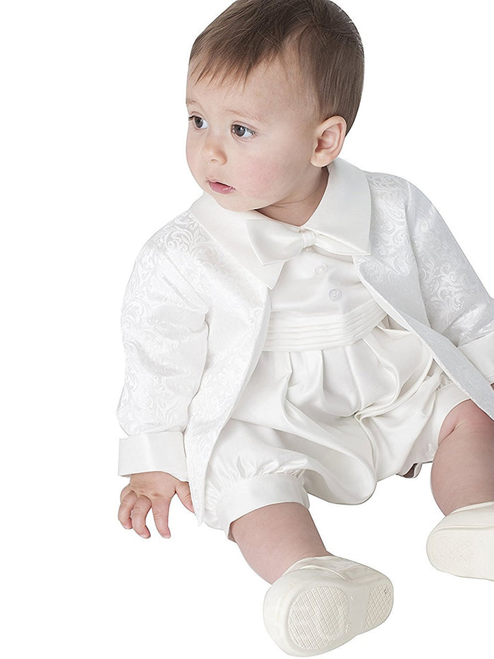 Baby-boys White/Ivory Christening Gowns Baptism Suits