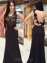 Sheath/Column Sweep/Brush Lace Floor-Length Evening Dress