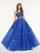 One Shoulder Beading A-Line Sleeveless Prom Dress