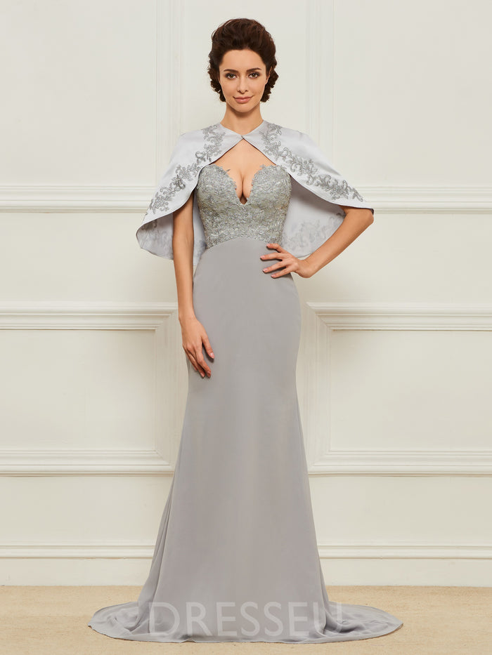Floor-Length Appliques Sweep/Brush Sweetheart Mother of the Bride Dress