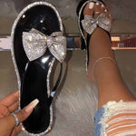 Bow Flat With Slip-On Thong PVC Slippers