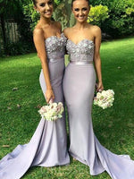 Appliques Trumpet/Mermaid Sweetheart Floor-Length Bridesmaid Dress