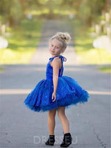 Halter Short/Mini Lace Flower Girl Dress