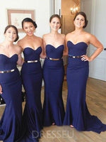 Sweetheart Floor-Length Sweep/Brush Trumpet/Mermaid Bridesmaid Dress