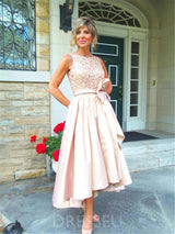 Fancy A-Line Satin High Low Mother Of The Bride Dress