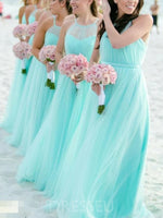 Halter Sleeveless Ruched Floor-Length Wedding Party Dress