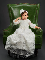 Baby Girl's Lace Christening Gown