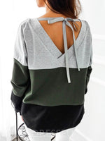 Color Block Regular Fall Long Sleeve Hoodie