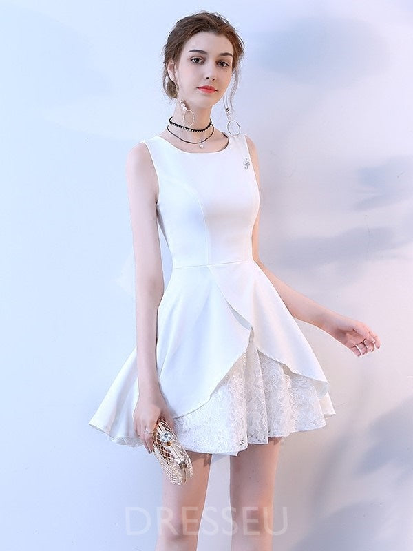 Square Sleeveless Short/Mini A-Line Cocktail Dress