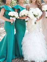 Tiered Sweep/Brush Floor-Length Short Sleeves Bridesmaid Dress