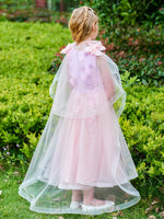 Appliques Sleeveless Flower Girl Dress With Bowknot
