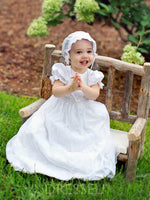 Christening Gown for Baptism Girl with Bonnet