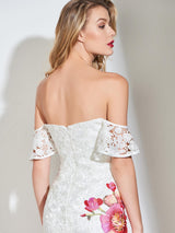 Short/Mini Appliques Off-The-Shoulder Sleeveless Cocktail Dress