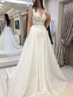Sleeveless Floor-Length V-Neck A-Line Hall Wedding Dress